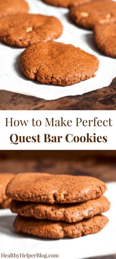 How to Make PERFECT Quest Bar Cookies | Healthy Helper @Healthy_Helper A discussion on why I am now eating Quest bars, plus a step by step guide to making QUEST BAR COOKIES!