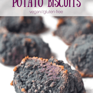 Purple Sweet Potato Biscuits | Healthy Helper @Healthy_Helper A delicious, purple twist on traditional sweet potato biscuits! These gluten-free, vegan drop biscuits are easy to make and are the perfect accompaniment to any meal. Serve them with warm butter and a drizzle of honey for a real delight!