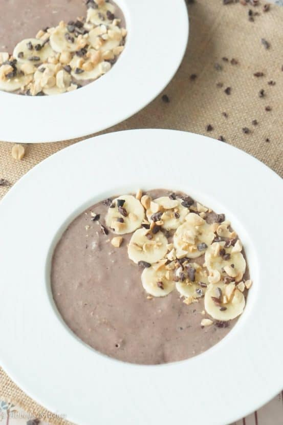 Healthy Chocolate Peanut Butter Smoothie Bowl | Healthy Helper @Healthy_Helper