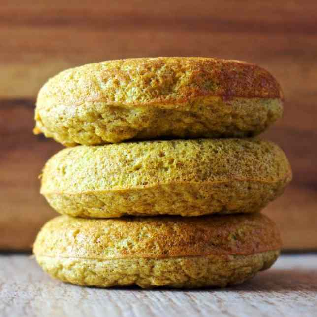Sweet Golden Milk Donuts | Healthy Helper @Healthy_Helper Healthy, high protein donuts that shine as golden as the sun! Get your daily dose of inflammation fighting turmeric in with these, Sweet Golden Milk Protein Donuts. Gluten-free, whole grain, and full of delicious flavor.