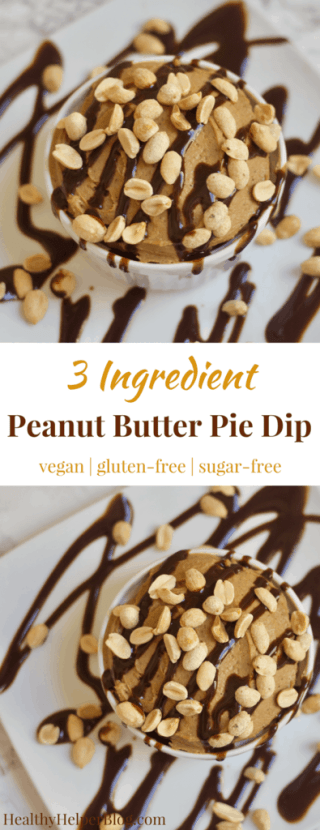 3 Ingredient Peanut Butter Pie Dip   Healthy Helper @Healthy_Helper Healthy, high protein dessert dip that tastes like your favorite pie! This 3 Ingredient Peanut Butter Pie Dip is vegan, gluten-free, naturally sweetened, and so decadent tasting. Feel good about indulging with your favorite dippers for a healthy snack or sweet treat.