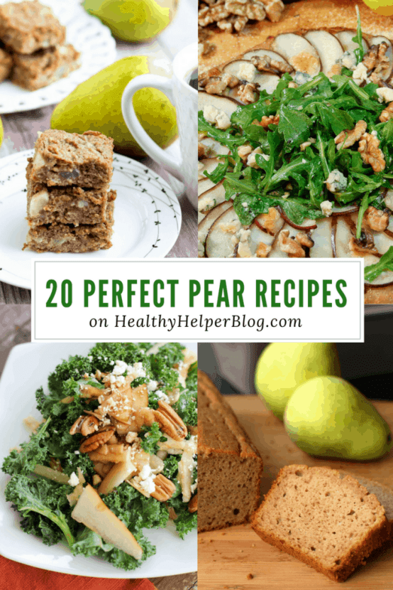 20 Perfect Pear Recipes | Healthy Helper @Healthy_Helper A roundup of the best healthy recipes made with pears to celebrate National Pear Month! Fruity, sweet, and totally perfect for enjoying this delicious seasonal delight!