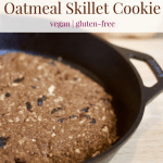 Beets & Berries Oatmeal Skillet Cookie [vegan + gluten-free]
