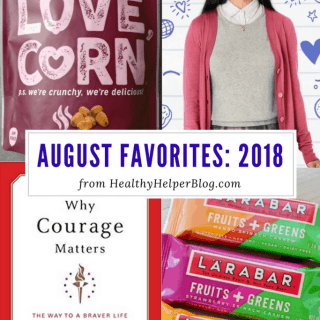 August Favorites: 2018 | Healthy Helper A roundup of my current favorite products, links, and things from around the web! Check out the list and find some new things to try for yourself.