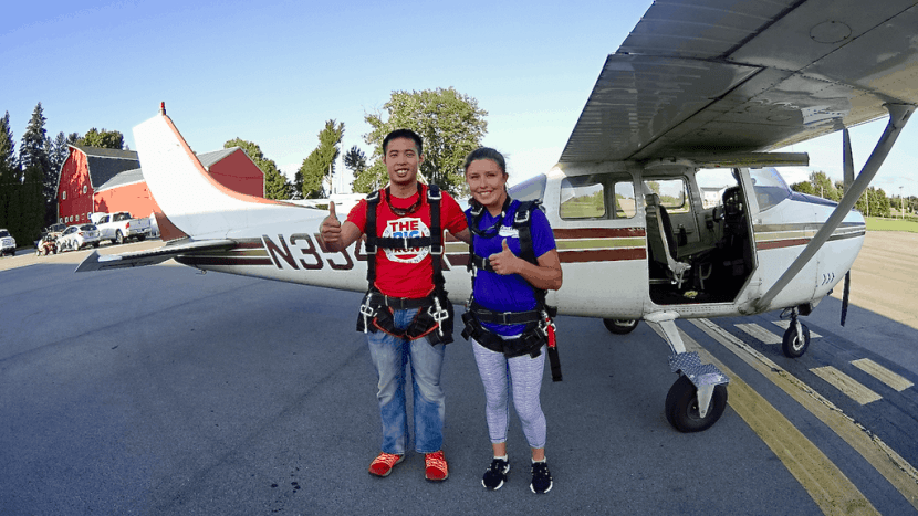 "Skydiving 101: My First Jump | Healthy Helper A recap of my first experience with SKYDIVING! Thoughts and feelings leading up to the jump, what I was thinking during, and how I felt immediately after. Plus answering the question, ""would I jump again?""."