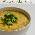 Vegan Slow Cooker White Chicken Chili | Healthy Helper Creamy, flavorful White 'Chicken' Chili made in the slow cooker with NO animal products! Vegan, filled with vegetables, and tastes just like the original. Your family will never be able to tell the difference between this hearty vegan chili and a meat-filled one.
