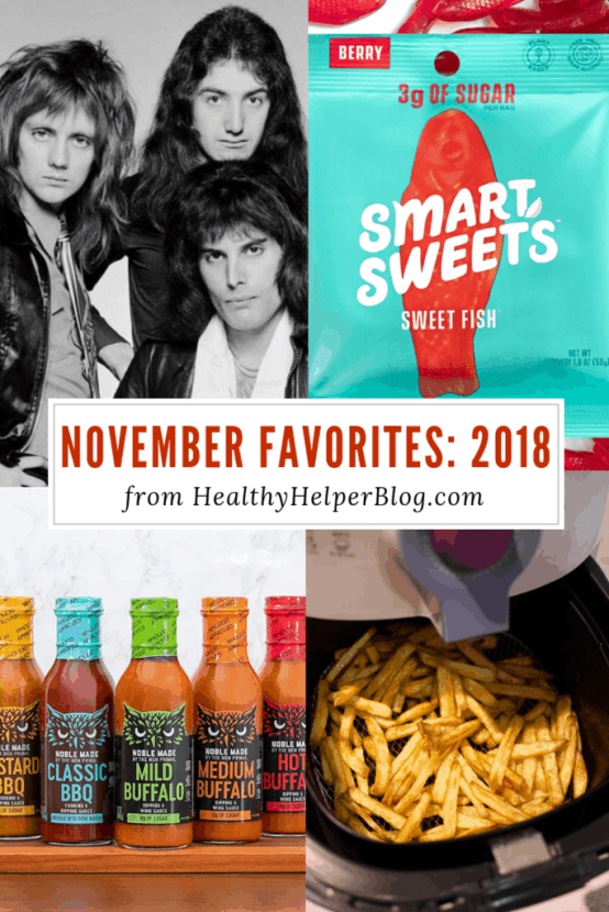 November Favorites: 2018   Healthy Helper A roundup of my current favorite products, links, and things from around the web! Check out the list and find some new things to try for yourself.