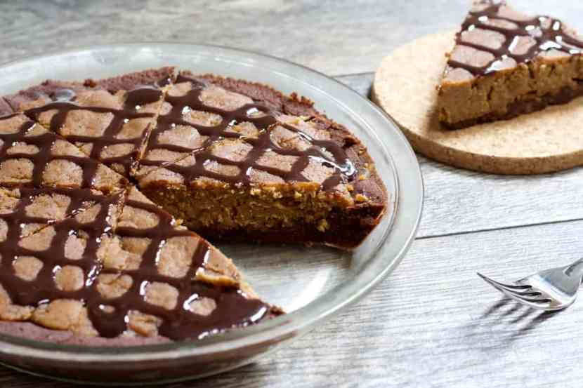 Vegan Peanut Butter Pie | A healthy take on classic peanut butter pie without dairy, grains, or added sugar! This Vegan Peanut Butter Pie is just as rich and sweet as the original, but MUCH better for you and easy to make too.