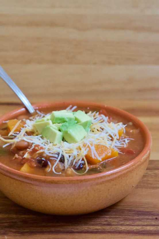 Sweet and Spicy Instant Pot Chicken Chili | A hearty chili with the perfect combination of spices and fresh ingredients. A little sweet, a little spicy, and packed with healthy ingredients. Easily made in the Instant Pot and a total crowd pleaser.