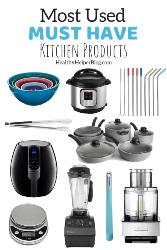 10 of my Most Used Must Have Kitchen Products | A round-up of my MUST HAVE kitchen gadgets, appliances, and tools that I use on a daily basis to cook healthy meals. My kitchen ESSENTIALS that allow me to prepare fresh, nutritious food daily...easily and efficiently.