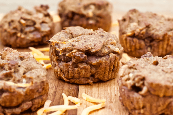 Dinner - Vegan Gluten-Free Carrot Cake Muffins | Healthy vegan carrot cake muffins made with whole foods and no added sugar. Gluten-free, easy to make, and perfect or a wholesome breakfast or snack.