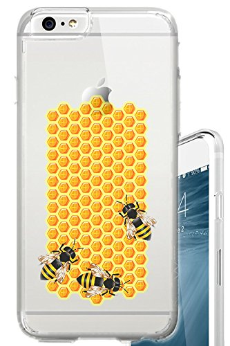 Iphone 6s Case Busy Bee Working Honey Comb Lady Clear Translucent