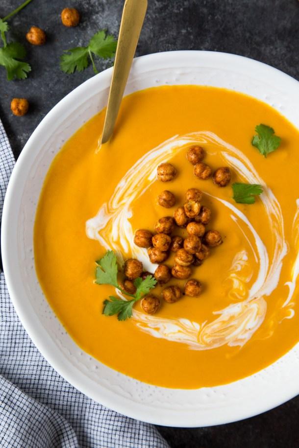 Thai Coconut Carrot Soup {Instant Pot}