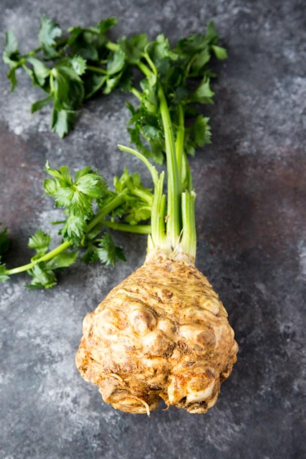Instant Pot Cauliflower Mashed Potatoes - Celery Root