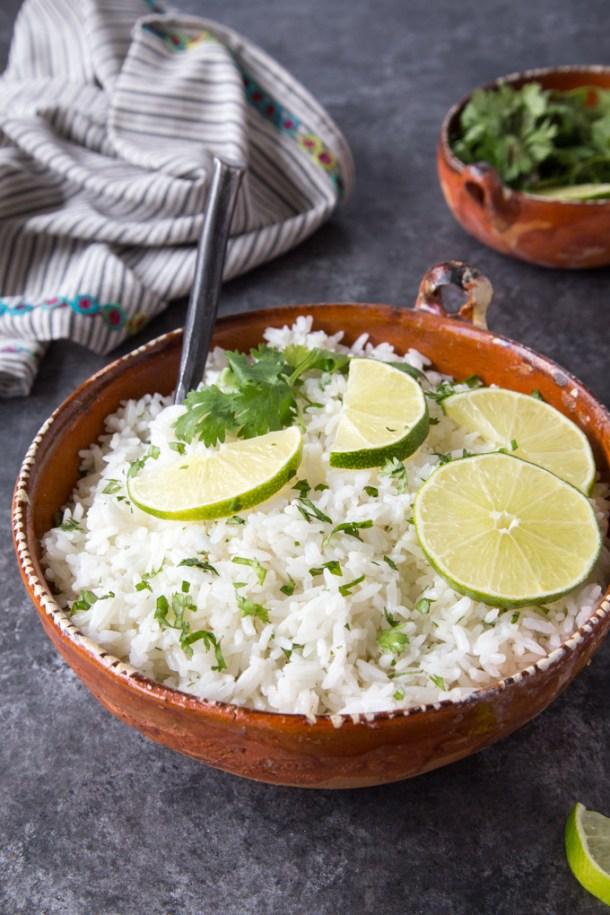 Instant Pot Cilantro Lime Rice { Chipotle Copycat}