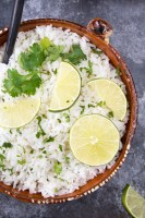 Instant Pot Cilantro Lime Rice (Chipotle Copycat)