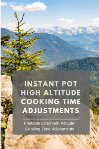 Instant Pot Altitude Adjustments
