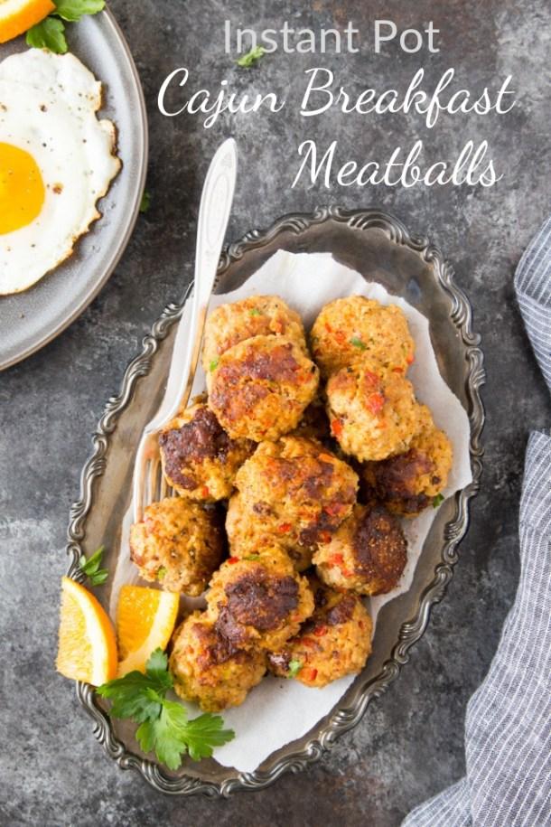 Instant Pot Cajun Breakfast Meatballs