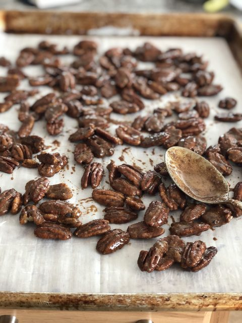 Dirty Chai Spiced Pecans