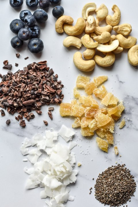 Coconut Chia Pudding with Ginger and Cacao