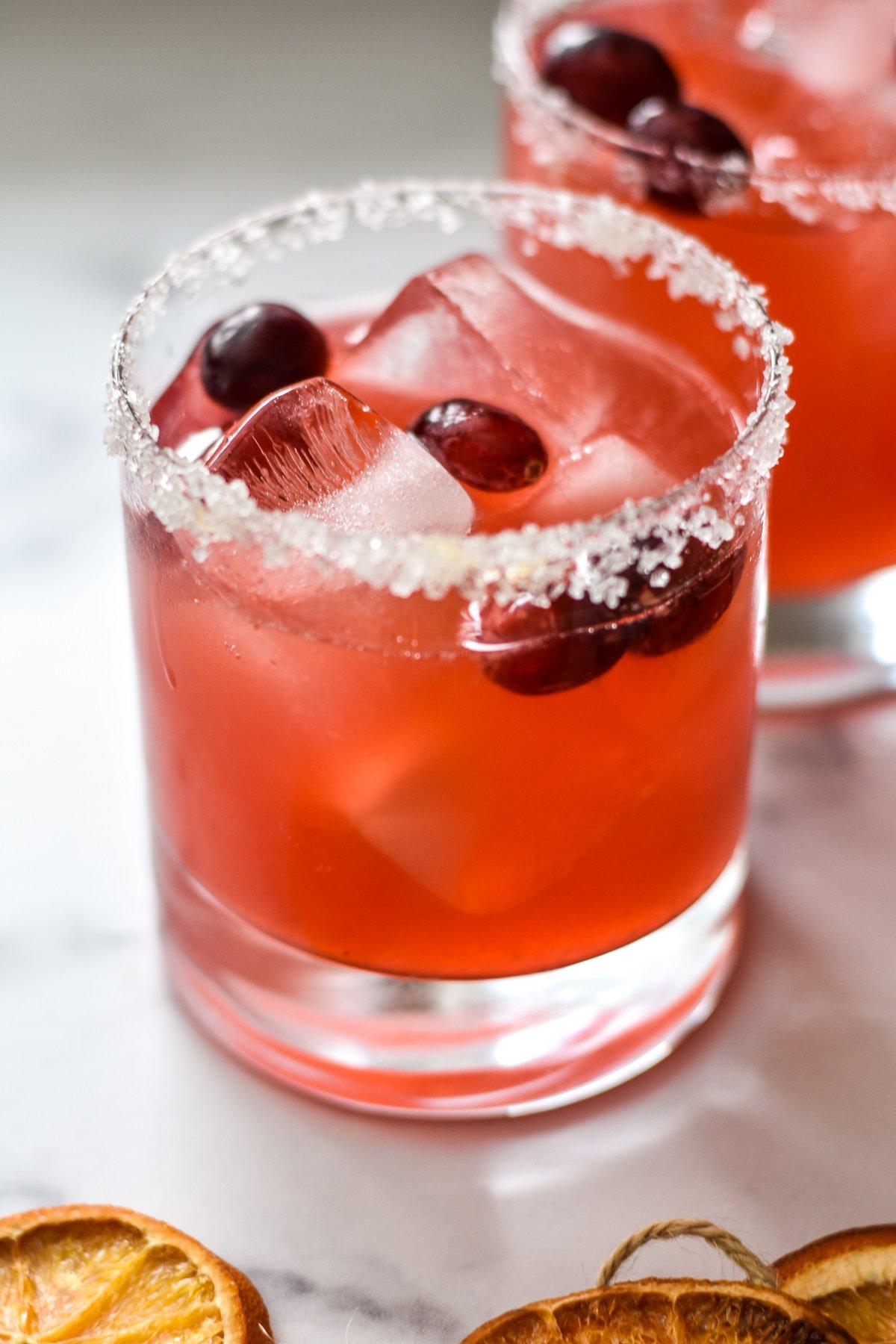 fresh cranberry ginger margarita