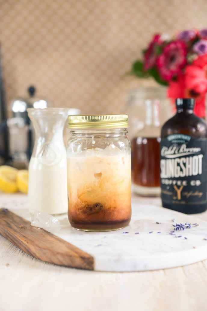 Lavender Simple Syrup for Iced Lattes and Lavender Lemon Healthyish Cakes via www.HealthyishFoods.com