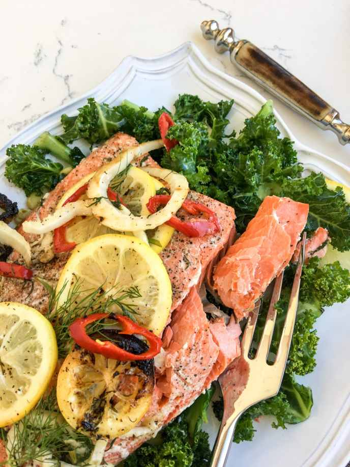 Kim's Slow-Roasted Sockeye Salmon, A Healthyish Brand Recipe