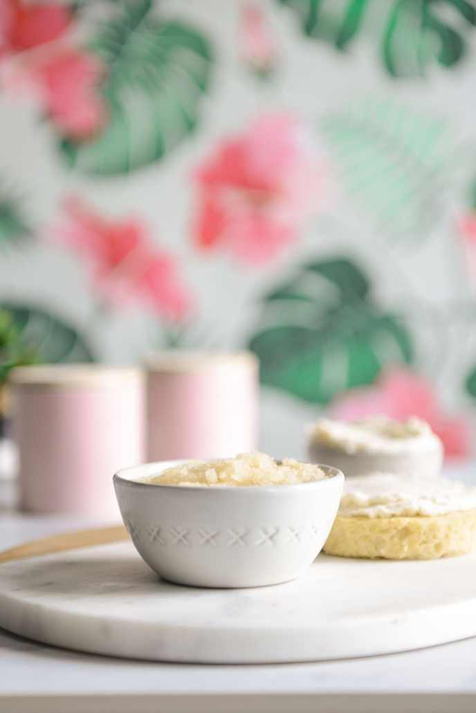Cake Inspired Exfoliating Sugar Scrubs // www.HealthyishFoods.com