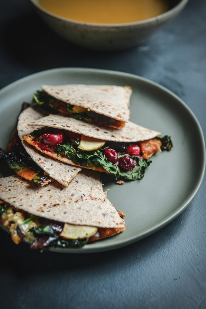 Thanksgiving Quesadillas for Healthyish Holidays // www.HealthyishFoods.com