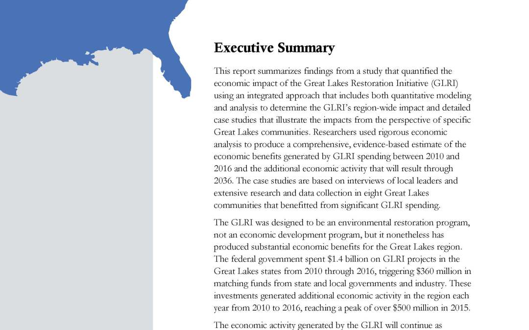 Assessing the Investment of the Economic Impact of the Great Lakes Restoration Initiative