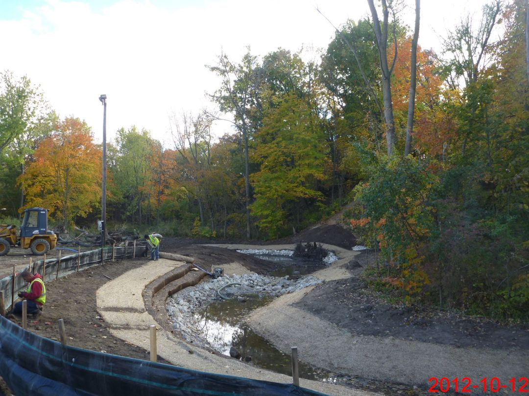 Dead Dog Creek during restoration