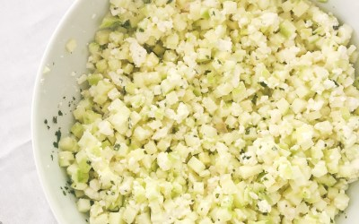 Salade Fraicheur : Courgette Crue – Fêta