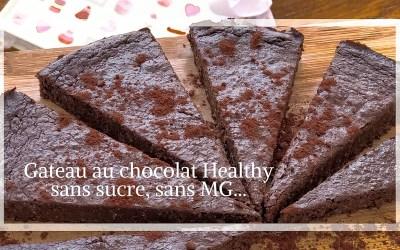 Gâteau chocolat, sans sucre, sans MG et super sain