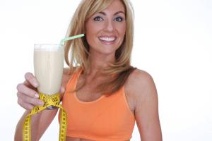 Woman Drinking shake