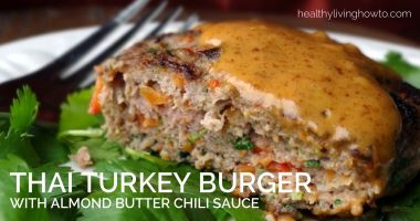 Thai Turkey Burger with Almond Butter Chili Sauce