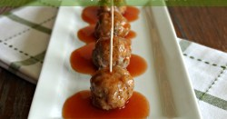 Garlic & Onion Pork Meatballs with Sweet & Sour Orange Sauce