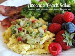Avocado Peach Salsa