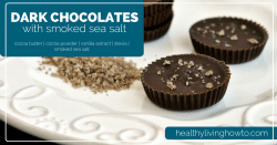 Dark Chocolate With Smoked Sea Salt | healthylivinghowto.com