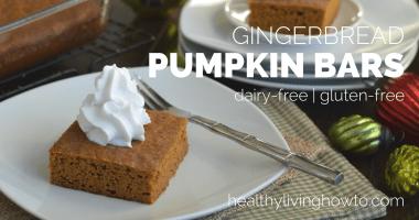 Healthy Gingerbread Pumpkin Bars
