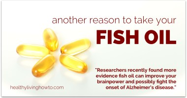 Another Reason To Take Fish Oil Supplements