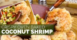 Crispy Oven Baked Coconut Shrimp | healthylivinghowto.com