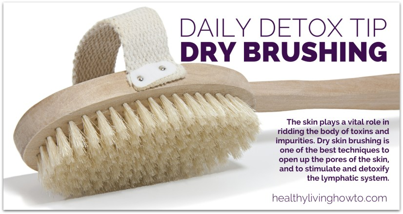 Daily Detox Tip: Dry Skin Brushing   healthylivinghowto.com