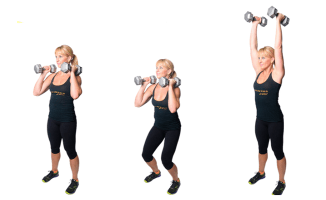 DB Double Push Press | healthylivinghowto.com