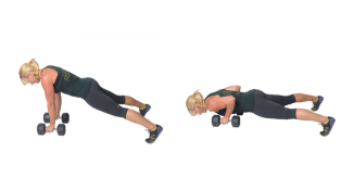 DB Pushup   healthylivinghowto.com