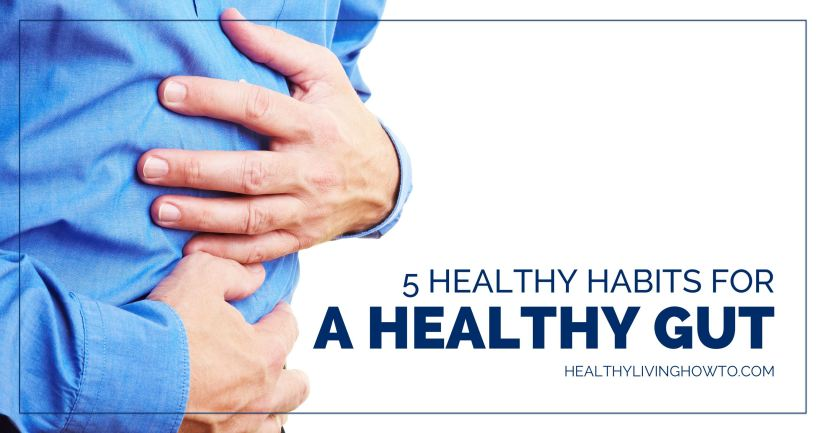 5 Healthy Habits for a Healthy Gut | healthylivinghowto.com