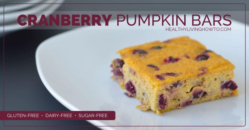 Cranberry Pumpkin Bars | healthylivinghowto.com