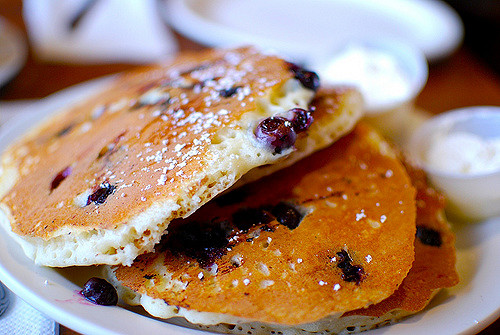 Blueberry and coconut pancake recipe