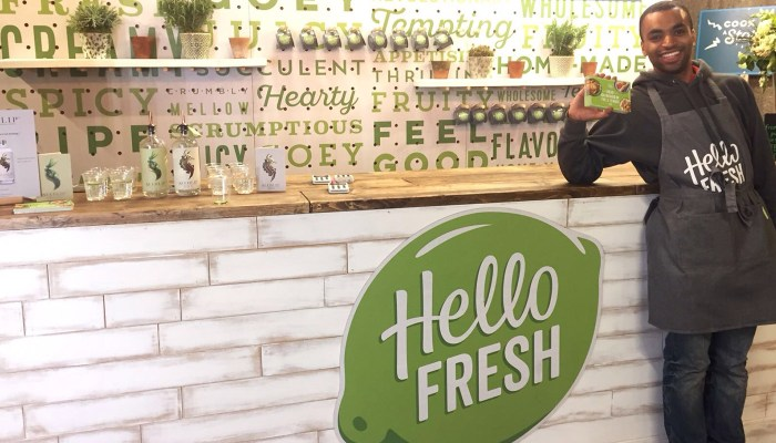 Hello Fresh pop up
