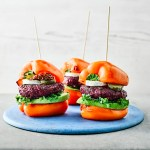 Pepper Burgers with Beetroot and Goats' Cheese