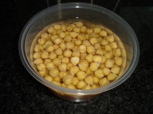 Soaking of beans overnight